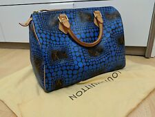 Authentic Louis Vuitton Speedy 30 By Yayoi Kusama Blue (Limited Edition)