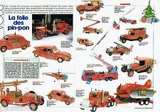 PUBLICITE ADVERTISING 116  1985  Les voitures de pompiers (2p) jeux jouets