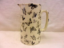 Special offer, Black butterfly design 4 pint pitcher jug by Heron Cross Pottery