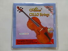 CELLO STRINGS, 4/4 FULL SET, NICELY PACKAGED, GREAT TONE, BY ALICE, UK SELLER!