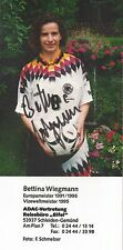 Autogramm Bettina Wiegmann Frauen Fußball WM Olympia 9x18 Foto original sign.