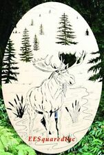 New Oval 8x12 MOOSE STATIC CLING WINDOW DECAL Sliding Glass Door Western Decor