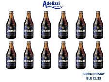 12 Bottiglie di BIRRA CHIMAY Tappo BLU CL. 33 Trappista Belga Doppio Malto SCURA
