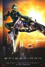 SPIDER-MAN 1 MOVIE POSTER ~ GREEN GOBLIN ADVANCE 27x40 Willem Dafoe Spiderman