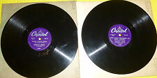 """Monica Lewis 2X10"""" 78 rpm Lot WHEN YOU'RE NEAR, LOOK WHAT FOLLOWED ME HOME LAST"""
