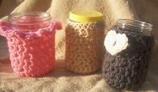Jar Cozy Pattern Only ......for drinks gifts storage yarn crochet original bag