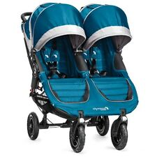 Baby Jogger 2016 City Mini GT Double Stroller - Teal/ Gray - New! Free Ship!
