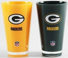 NFL, Set of 2 Plastic Tumblers, Green Bay Packers, NEW (Shatter-Proof)