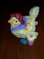 NEAT HARD TO FIND Hallmark Squawkin Egg Laying Hen Animated Sings /DROPS EGGS