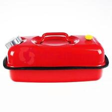 Jerry Can 5 Gal 20L Gasoline Fuel Can Metal Gas Tank Emergency Backup Red New