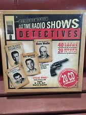 Old Time Radio Show Detectives Collector Series 20 CD Library New Ships Next Day