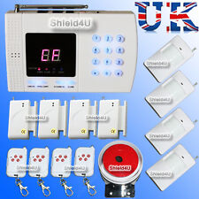 WIRELESS AUTODIAL PHONE BURGLAR HOME HOUSE OFFICE INTRUDER SECURITY ALARM SALES