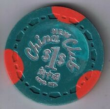 New China Club Chinese $1.00 Small Crown Mold Casino Chip Reno Nevada