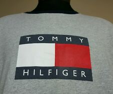 Vtg Tommy Hilfiger T Shirt XL Box Logo Spell Out 90's Flag Colorblock Jeans