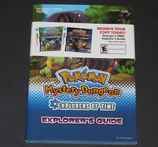 NEW POKEMON Mystery Dungeon Explorers of Time Guide Book NINTENDO DS Sealed