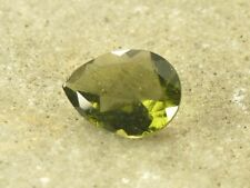 2.65cts drop pear 12x9x5mm standart cut moldavite faceted cutted gem BRUS898