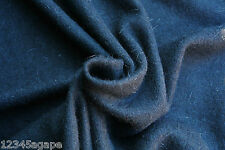 SLD222 LUXURIOUS PLAIN BLACK FINE FELTED KNIT WOOL/ALPACA BLEND MEDIUM WEIGHT