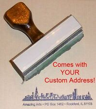 Chicago Skyline Rubber Stamp With Your Custom Address