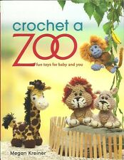Crochet a Zoo Pattern Book ~Animals Lion Tiger Bears Zebra Monkeys Giraffe + NEW