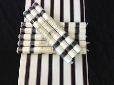 York Wallpaper Stripe Black Red White #IR2867 (Lot of 8 Double Rolls)