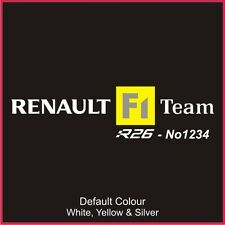 Megane R26 230 Seat Runner Decals x2,Sticker, Graphics,Car, Seats, Racing, N2090