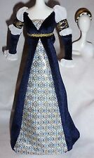 DRESS & HEADBAND ONLY ~ BARBIE DOLL PRINCESS OF THE RENAISSANCE GOWN ACCESSORY