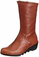 Fly London Pama Chaussures Femme 40 Bottes Bottines Mollet Calf Boots UK7 Neuf
