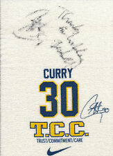 "STEPHEN CURRY 2009-2010 ""TCC"" TOWEL AUTO ROOKIE JSA CERTIFIED!  USED!?"