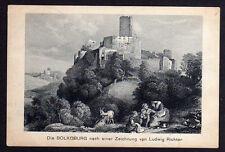 69541 AK Bolkoburg Zeichnung Ludwig Richter Bahnpost