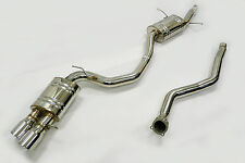 """OBX CatBack Exhaust system 3"""" Pipe  Fits 2010 To 2014 Audi A5 Quattro 2.0L"""