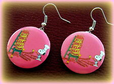 New SNOOPY the Dog (Peanuts) Earrings Jewelry - Charlie Brown's SNOOPY cartoon