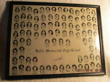 1950 Memorial High School Evansville IN Girls' Senior Class 11X14 Framed Photo