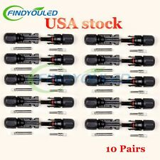 MC4 30A Solar Panel Cable Connectors 10 Pairs Male/Female Set PV Cable Wire