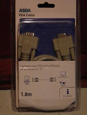 VGA connector and cable new in sealed pack