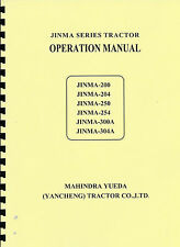 Jinma 200/204/250/254/300A/304A Tractor Owner's Manual