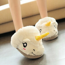 Cute Unicorn Plush Cotton Indoor Unisex Women Kids Slippers Cosplay Xmas Gifts