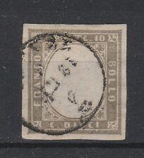 FRANCOBOLLI 1861 SARDEGNA 10 C. GRIGIO Z/446