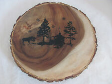 222 Fifth - PTS Internat'l-Northwood Cottage-Wooden Wood Serving Platter/Trivit