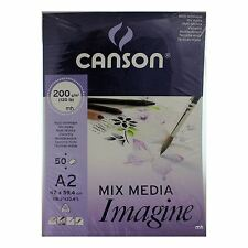 Canson  Mixed Media Imagine Paper Pad A2 200gsm 50 Sheets drawing artists ink