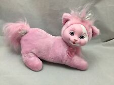 Kitty Surprise Pink Mama Cat Heart Collar No Babies Plush Vinyl Face Fluffy Tail