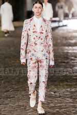 $4,551 ALEXANDER MCQUEEN MENS JACKET FLORAL BROCADE PRINT IT 52 US 42