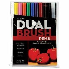 Tombow Dual Brush Pen Set, 10-Pack, Primary Colors (56167) , New, Free Shipping