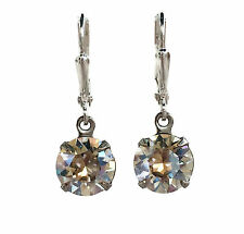 Swarovski Elements Moonlight Crystal Round Stone Jewelry Dangle Earrings (39ss)