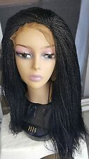 Fully hand braided lace front micro braid wig color 1B, 33,30 & purple