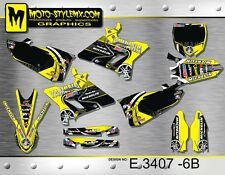 Ymaha YZ 125 & 250  2015 up to 2017 graphics decals kit stickers Moto StyleMX