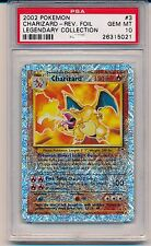 Pokemon Charizard Reverse Holo 3/110 Legendary Collection Graded PSA 10 MINT