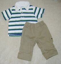 Lot of 2 CHILDREN'S PLACE ~ FADED GLORY  Boys' Polo Shirt & Pants  6-9 Months