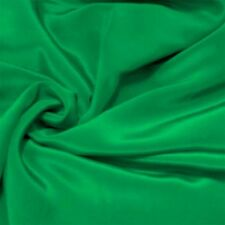 "Silk Fabric 0.5 Yards 45"" wide 12mm scdc Pure Silk Crepe De Chine Emerald Green"