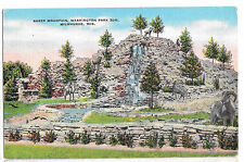 WI Milwaukee Sheep Mountain Washington Park Vtg Postcard 1940