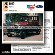 #028.12 FORD MODEL T 1926-1927 - Fiche Auto Classic Car card